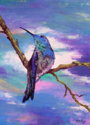 Hummingbird Prints Prints - Dougs Hummingbird Print by Lisa Rose Musselwhite