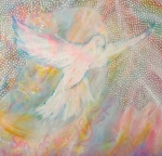 Anne Cameron Cutri Metal Prints - Dove Detail from Immaculate Conception Metal Print by Anne Cameron Cutri