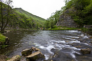 Stepping Stones Framed Prints - Dovedale Flow Framed Print by Darren Burroughs