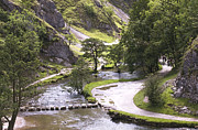 Stepping Stones Prints - Dovedale Watercolour Print by Darren Burroughs
