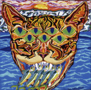 Cat Images Paintings - Dover Cat by Robert  SORENSEN