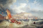 Stormy Weather Paintings - Dover by John Wilson Carmichael