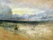 Ocean Shore Pastels Prints - Dover  Print by Joseph Mallord William Turner