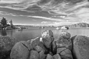 Cloud Originals - Dowdy Lake In Black and White by James Steele