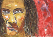 Singer Songwriter Paintings - Down and Dirty A Portrait Of Wendy Woo by Charles Snyder