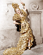 Gold Lame Photo Prints - Down Argentine Way, Betty Grable, 1940 Print by Everett