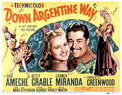Grable Metal Prints - Down Argentine Way, Betty Grable, Don Metal Print by Everett