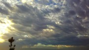Sun Breaking Through Clouds Art - Down Blanket by Tracy Evans