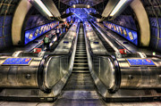 Metro Photo Metal Prints - Down From A Cloud. Up From The Underground. Metal Print by Evelina Kremsdorf