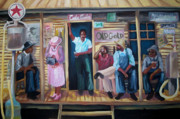 Black History Paintings - Down Home by Janie McGee