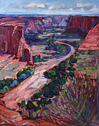 Red Rock Canyon Paintings - Down in the Canyon by Erin Hanson