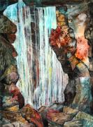 Cave Mixed Media Prints - Down in the Underground I Print by Patricia Allingham Carlson