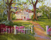 Oaks Painting Framed Prints - Down near McClellanville Framed Print by Jane Woodward