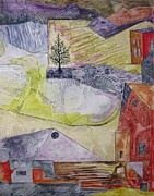 Country Scenes Mixed Media Prints - Down on the Farm Print by David Raderstorf