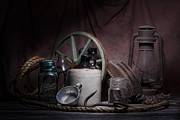 Stoneware Prints - Down on the Farm Still Life Print by Tom Mc Nemar