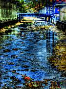 Port Town Digital Art Prints - Down The Drain Print by Sarita Rampersad