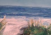 Impressionistic Drawings - Down The Shore by Eric  Schiabor
