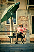 Gondolier Photo Framed Prints - Down Time Framed Print by Marion Galt