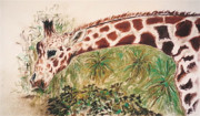 Giraffe Pastels - Down To Earth by Cori Solomon