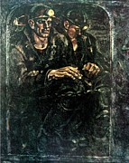 Miners Paintings - Down to the Coal-face by Ivan Filichev
