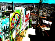 Street Art Prints - Down to Valparaiso  Print by Funkpix Photo  Hunter