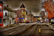 City Scape Metal Prints - Down Town Lexington VA Metal Print by Todd Hostetter