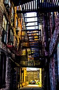 Nyc Fire Escapes Photos - Down under by James McDowell