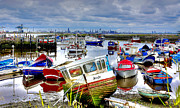 River Tees Prints - Down with the Boats Print by Trevor Kersley