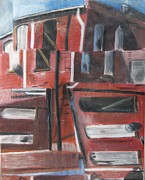 Downtown Pastels Originals - Downtown by Amanda Funkhouser