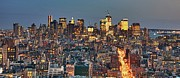 Manhattan Photos - Downtown At Dusk by Photo by Dan Goldberger