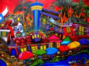 Riverwalk Paintings - Downtown Attractions by Patti Schermerhorn