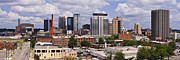 Southern Alabama Framed Prints - Downtown Birmingham Skyline Framed Print by Jeremy Woodhouse