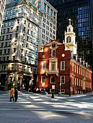 Downtown Boston Print by Trevor Slauenwhite