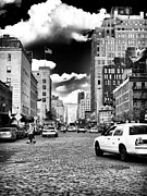 Taxi Cab Photos - Downtown Cab ride by John Rizzuto