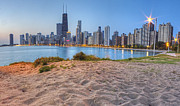 North Shore Prints - Downtown Chicago from North Beach Print by Twenty Two North Gallery