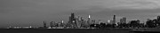 Chicago Skyline Bw Metal Prints - Downtown Chicago in Black and White Metal Print by Twenty Two North Photography