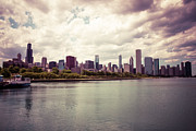 Chicago Prints - Downtown Chicago Skyline Lakefront Print by Paul Velgos