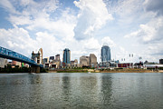 Ballpark Photo Prints - Downtown Cincinnati Skyline Buildings Print by Paul Velgos