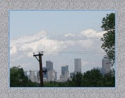 Downtown Denver Print by Gretchen Wrede
