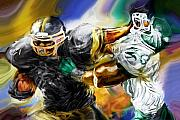 Football Art - Downtown Express by Mike Massengale