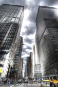 Nyc Digital Art Metal Prints - Downtown HDR Metal Print by Robert Ponzoni