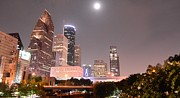 Timed Exposure Prints - Downtown Houston Print by David Morefield