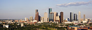 Texas Architecture Prints - Downtown Houston Skyline Print by Jeremy Woodhouse