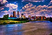 White River Posters - Downtown Indianapolis Skyline Poster by David Haskett