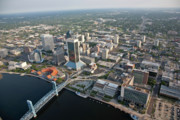 Jacksonville Framed Prints - Downtown Jax 3 Framed Print by John Binkley