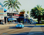 T-bird Painting Framed Prints - Downtown Lahaina Maui Framed Print by Frank Dalton