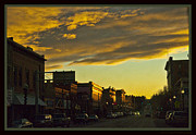 Lewistown Posters - Downtown Lewistown Poster by Sheri Bartoszek