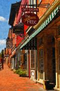 Small Towns Prints - Downtown Lexington Print by Kathy Jennings