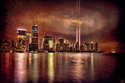Wtc Digital Art Metal Prints - Downtown Manhattan September Eleventh Metal Print by Chris Lord