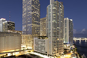 Business-travel Art - Downtown Miami At Dusk by Marcaux
